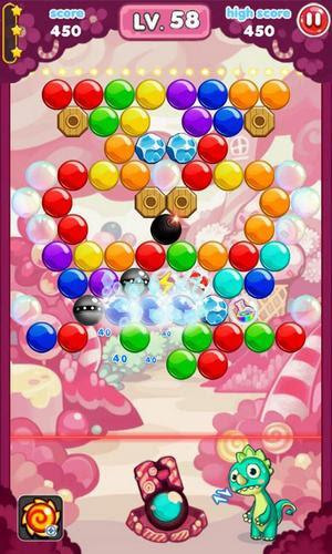 Screenshots of the Shoot bubble for Android tablet, phone.