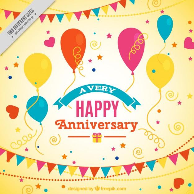 Happy Anniversary Yellow Background Free Vectors Ui Download