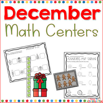 december math center.  Christmas math, time4kindergarten.com
