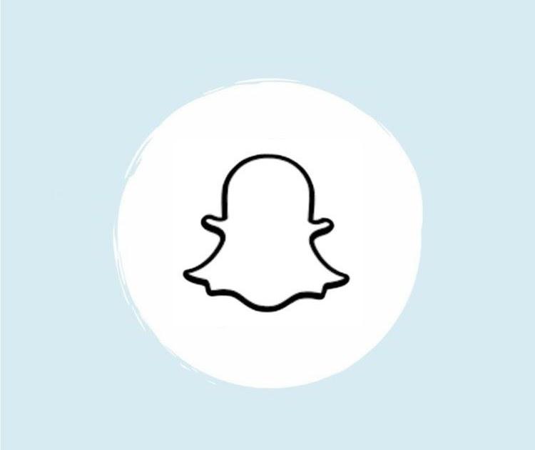Light Blue Snapchat Logo Aesthetic