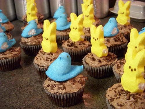 Peep Cupcake Army