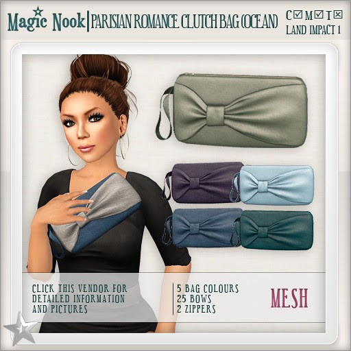 [MAGIC NOOK] Parisian Romance Clutch Bag MESH (Ocean)