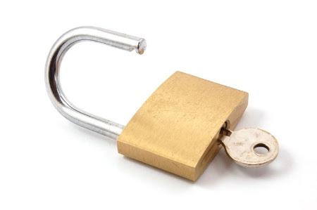 Unlocked padlock (open access)