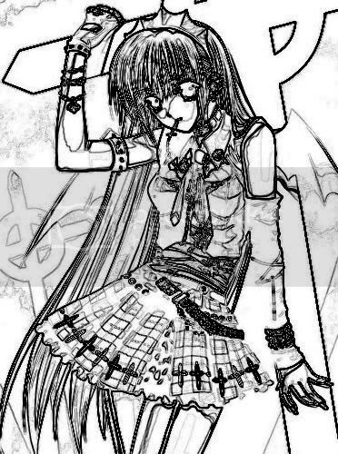 Plekenyes anime drawings emo guys for Emo coloring pages