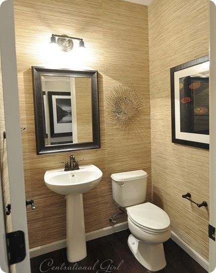 My bathroom modern style decor grasscloth wallpaper for H g bathrooms brookvale