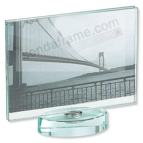 Glass Spinner For Horizontal 5x7 Prints Picture Frames Photo