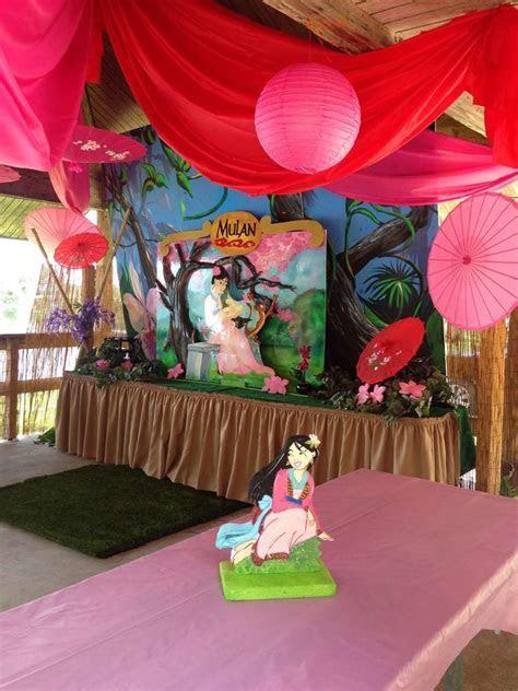 Princess Mulan Birthday Party Ideas   Photo 2 of 14