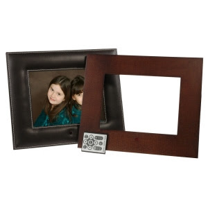 Smartparts Sp8mix 8 Digital Photo Frame Leather And Wood Border