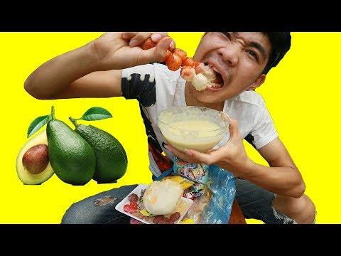 PHD | Chấm Tất Cả Mọi Thứ Bằng Sinh Tố Bơ | Mix Food With Avocado Sprouts