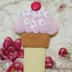 Cupcake segnalibro in pannolenci Cartamodello