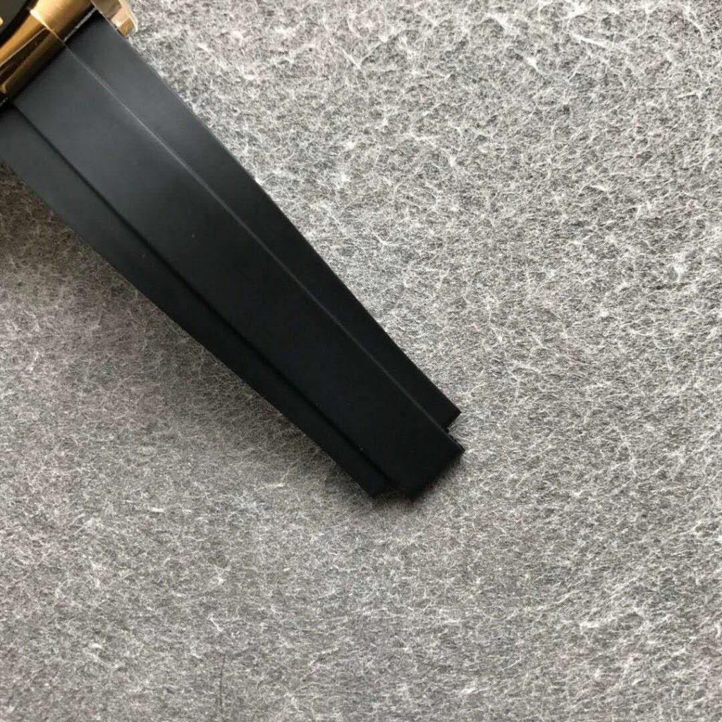 Noob Daytona Black Rubber Strap