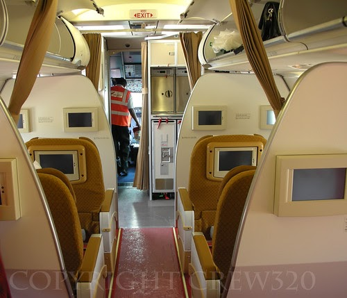 Africa Business Class: Airplane-pics: Air India Airbus A319 8 Business Class Seats