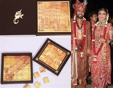 14 Unique And Gorgeous Celebrity Wedding Invites For The