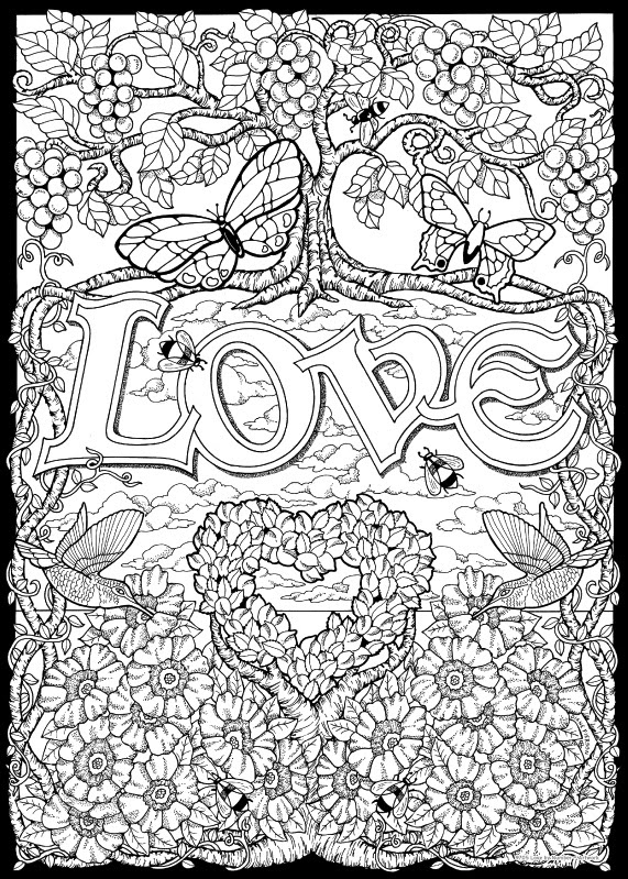 Love - Color By Number - Stuff2Color