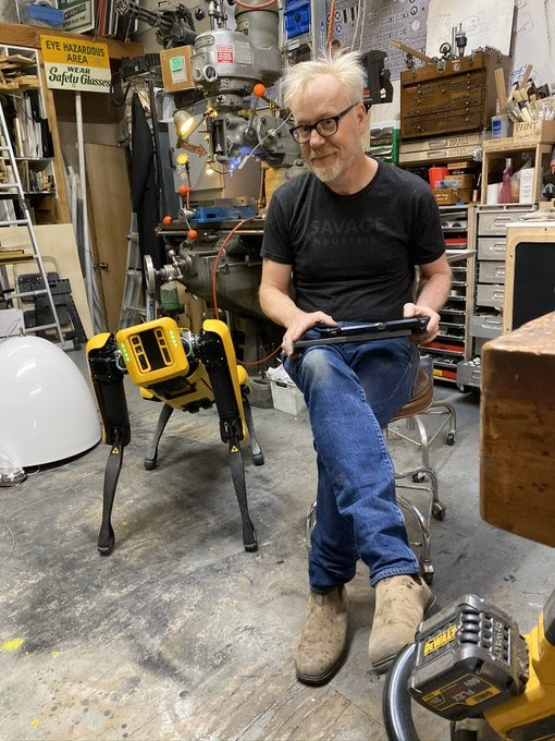 Boston Dynamics hands over their robot dog to MythBusters to train