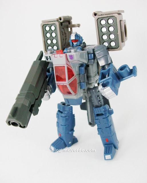 Transformers Vortex Universe Scout - modo robot con armas