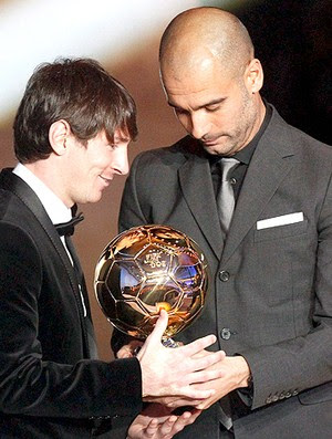 Bola de Ouro Messi Guardiola