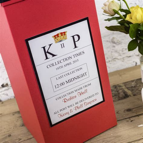 personalised wedding post box by dreams to reality design