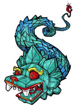 Quetzalcoatl Tattoo Clip Art Library