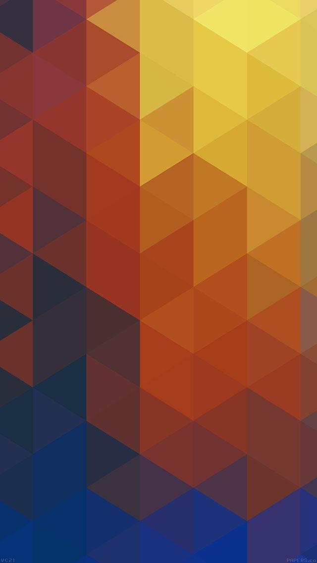FREEIOS7 | vc21-triangle-world-yellow-pattern - parallax ...