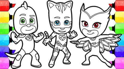 draw pj masks owlette gekko catboy  kids