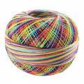 Fil de coton Lizbeth taille 40 Rainbow Splash n°184 x274m