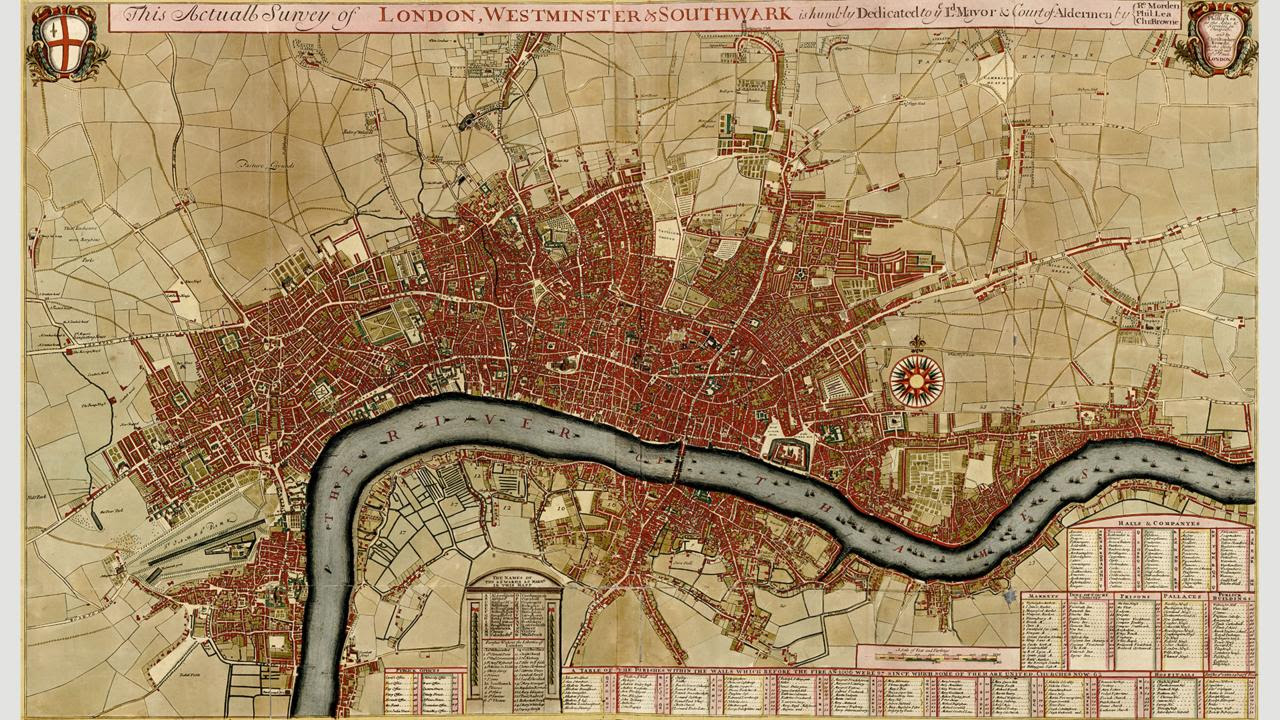 Wren's plan was largely ignored, as this map in 1700 shows