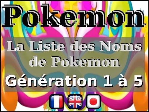 Pokemon Liste