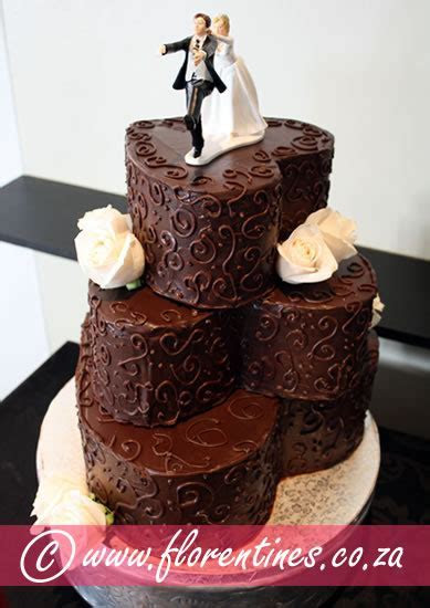 Wedding Cakes at Florentines Cakes   Cape Town Wedding