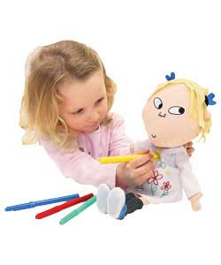 charlie and lola colour in lola doll chattering charlie and