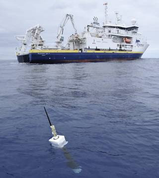 The new study used ocean temperature measurements from a global array of 3,500 Argo floats and other ocean sensors.