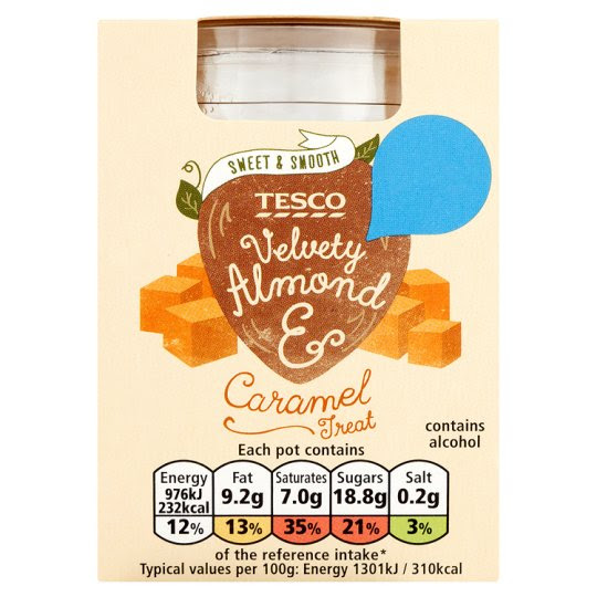 Tesco Almond And Caramel Dessert 75G
