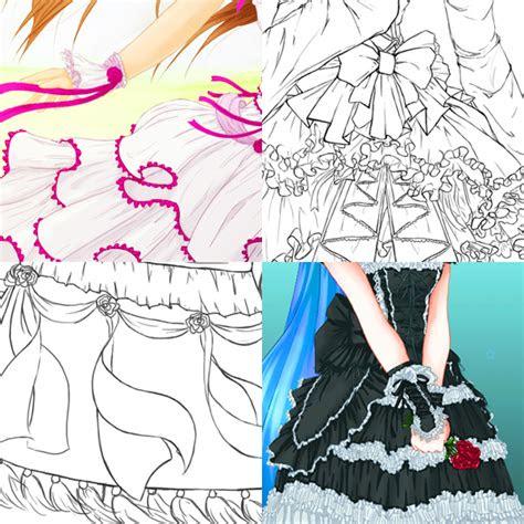 draw complex folds  ruffles  fabric  clothing