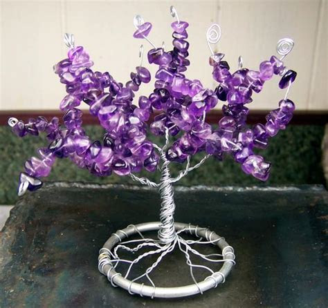 Items similar to Amethyst Gemstone Tree of Life sculpture