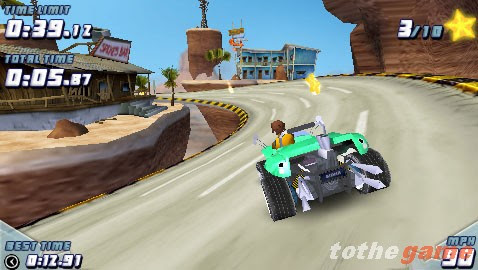 Screenshot of GripShift (PSP)