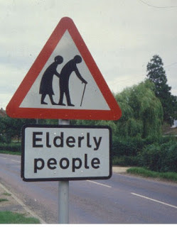 elderly crossing sign
