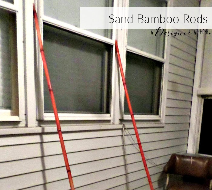 Sand bamboo rod finish and any stain down