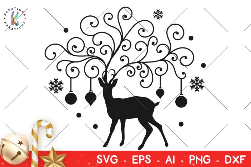 Download Free Christmas Svg Deer Ornament Svg Flourishes Svg ...