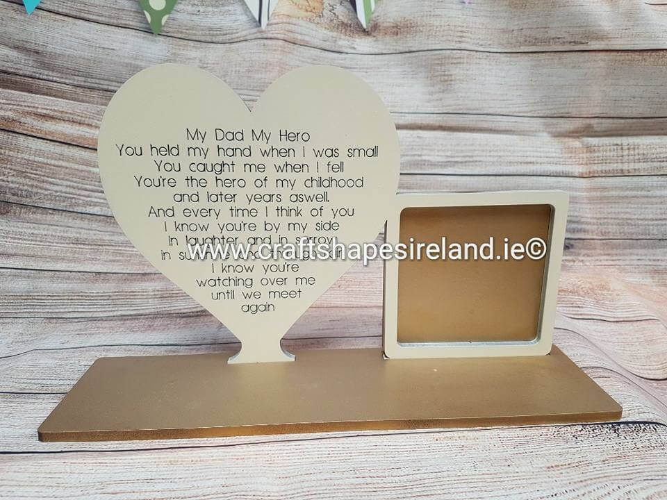 My Dad My Hero Frame The Gift Shop Ireland Personalised Gifts