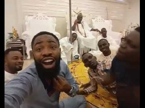 Image result for Comedian Arole and his partner visit Ooni of Ife's palace
