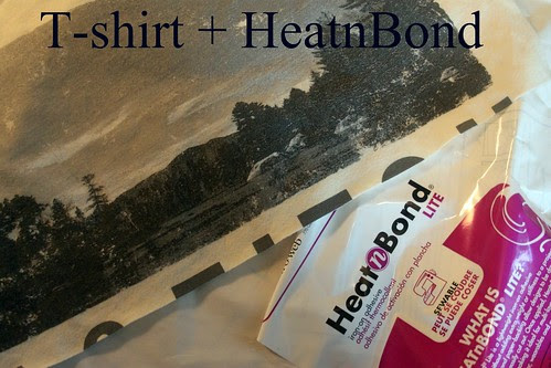 Cut T-shirt and Heat Bond