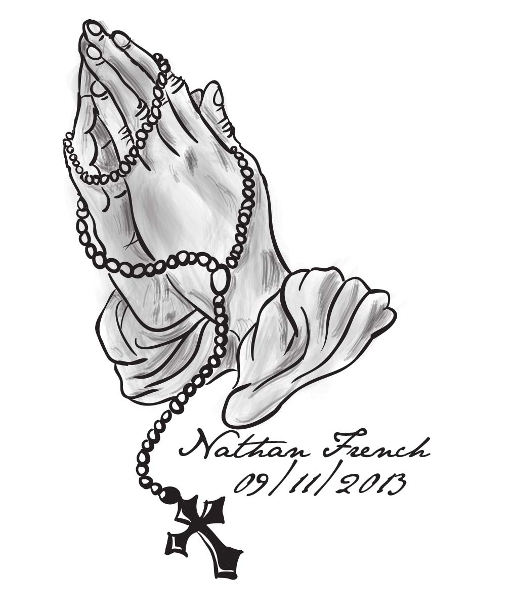 Praying Hands With Rosary Beads And Dove Giclee Print At Clip Art