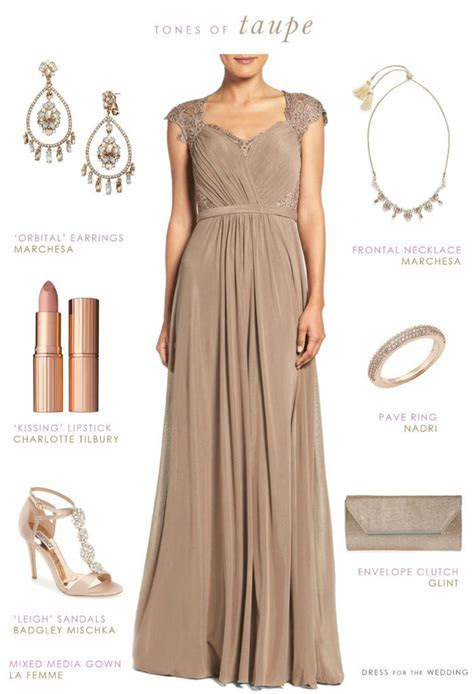 Taupe Evening Gown   Mother of the Bride or Groom   Taupe