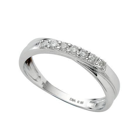 18ct white gold diamond wedding ring   Ernest Jones