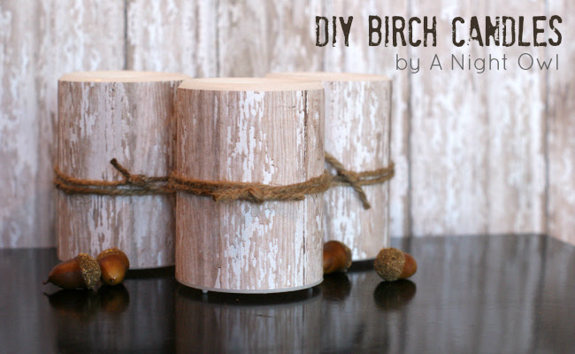 Knock-Off Birch Pillar Candles Tutorial by @anightowlblog