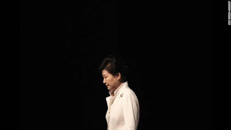 "Former South Korean President <a href=""http://www.cnn.com/2017/03/09/asia/south-korea-park-geun-hye-profile/index.html"" target=""_blank"">Park Geun-hye</a> leaves an event in Seoul, South Korea, on March 1, 2016. A year later, the country's Constitutional Court <a href=""http://www.cnn.com/2017/03/10/asia/south-korea-president-park-geun-hye-impeachment/index.html"" target=""_blank"">upheld a parliamentary vote</a> to impeach her over allegations of corruption and cronyism. Lawmakers and judges agreed that she abused her authority in helping a friend raise donations from companies."