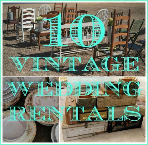 10 Vintage Items You Can Rent For Your Wedding   Rustic