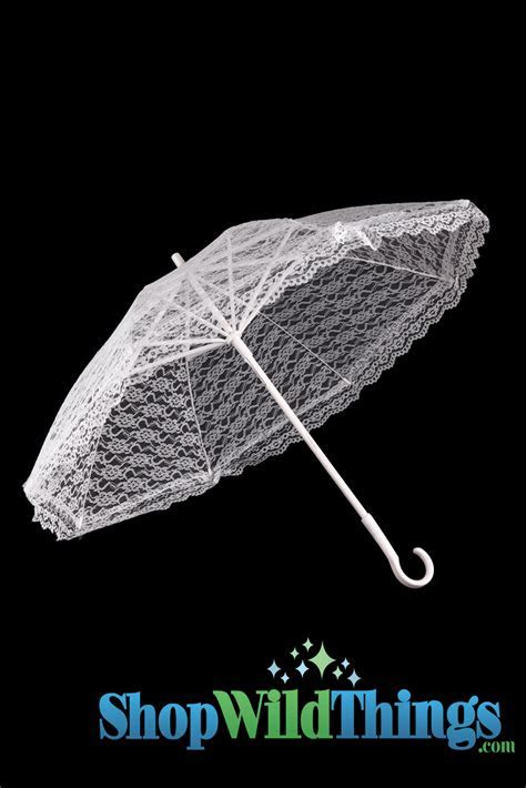 Large White Lace Parasol 27 Inches, Discount Umbrellas for
