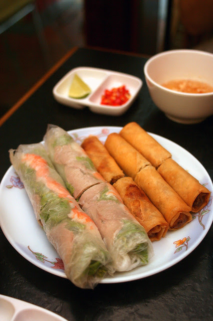Spring roll platter - goi cuon and cha gio