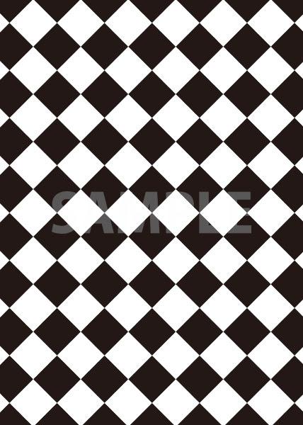 白黒色のハーリキンチェック柄a4サイズ背景素材 無料 商用可能 サイズ 背景テンプレートダウンロードサイト
